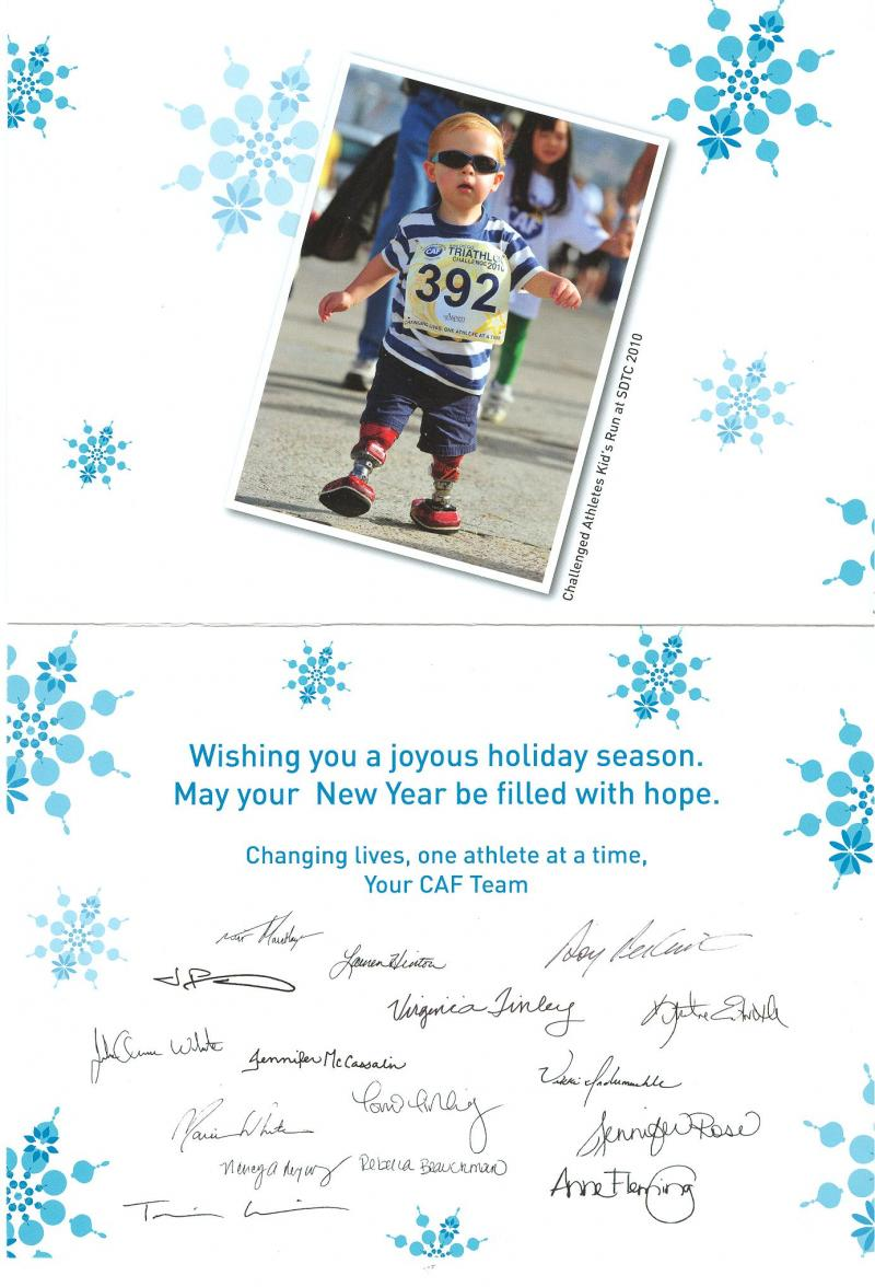 CAF Christmas Card Inside