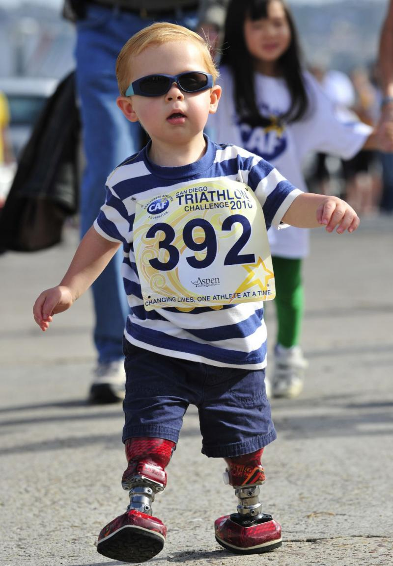 Joshua running his first Kids' Fun Run at the 18th Annual SDTC.